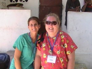 Chasity & Lisa in Haiti