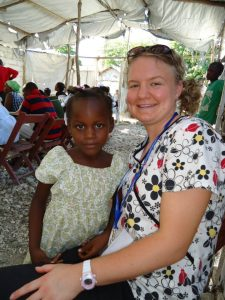 My friend Rachel in Haiti